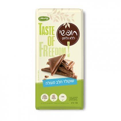 שוקולד חלב ללא גלוטן, אריזת 85 גר