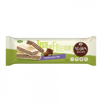 וופל ללא גלוטן בטעם שוקולד 200 גר'