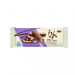 אגו משפחתי במילוי קרם בטעם שוקולד ובציפוי שוקולד חלב 130 גר'