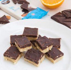 קוביות מרציפן שוקולד ותפוז של הבלוגרית הטבעונית אורי שביט